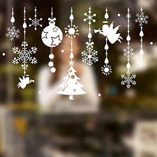Fensterbilder Hirsch Schneeflocken weiß Weihnachten Fenstersticker Wandaufkleber