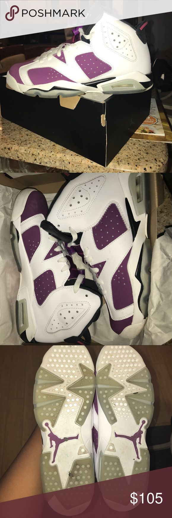 Air 6 jordans Limited edition female 6s retro Jordan's (only worn once). Brand new condition Air Jordan Shoes Sneakers