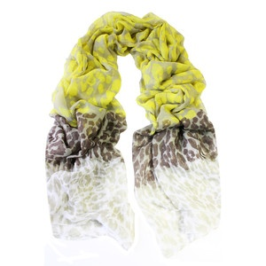 (50) Fab.com | Bright, Light Summer Scarves  Happy Scarf  Leopard Layers Yellow