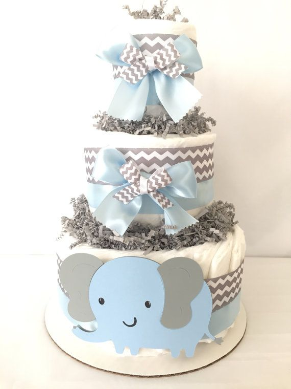 Elephant Diaper Cake diaper cake-baby shower by AllDiaperCakes