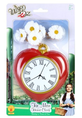 You don't need to go all the way to the Wizard for a heart. We've got you covered with this Tin Man Heart Clock.