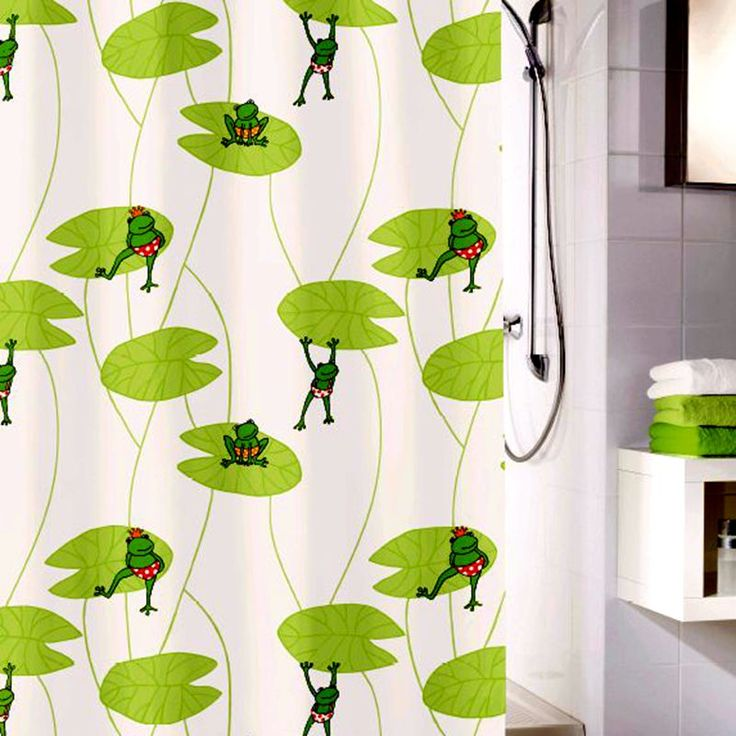 Shower Curtain Funny Frog Image With Shower Curtain Hooks Waterproof  Polyester Fabric Bathroom Shower Curtain Set