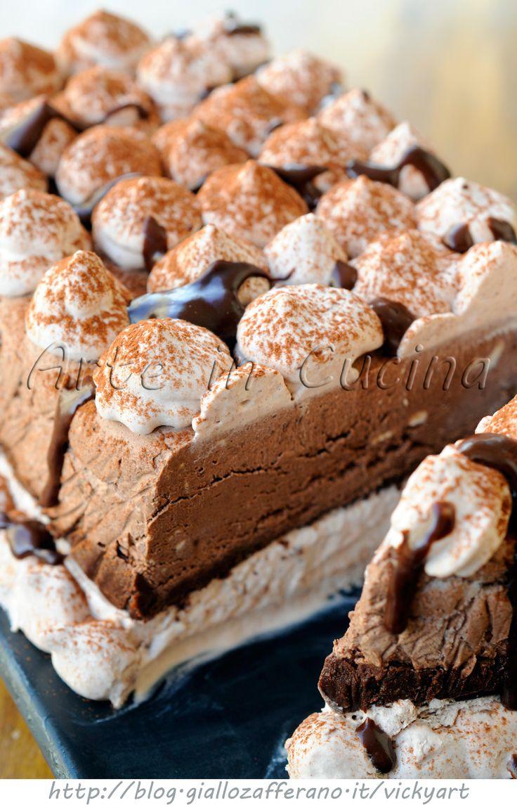 Mattonella gelato alla nutella e cioccolato vickyart arte in cucina