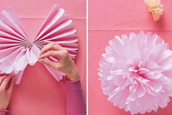 Resultado de imagen para centros de mesa con flores de papel barrilete
