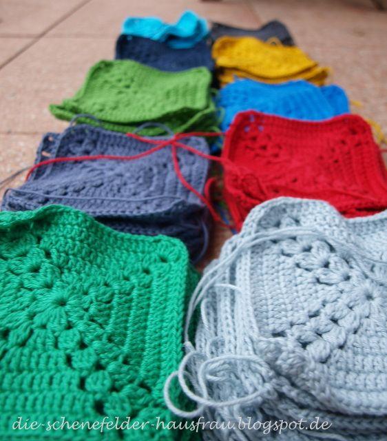 ... zweite....  Granny Square Decken/ Blankets/ Deken Ideen  Pinterest