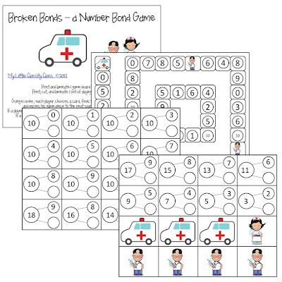 Number Bonds Missing Addend Game- free! Perfect for Math
