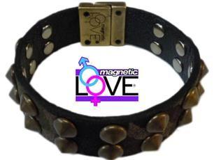 bracciale regolabile con chiusura Magnetica double face salutare: Easy Energy Close by:Magnetic LOVE® cinturino camouflage da un lato e nero dall'altro