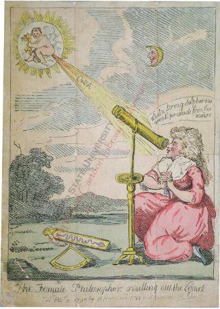 The Female Philsopher smelling out a comet, 1790 (Caroline Herschel)