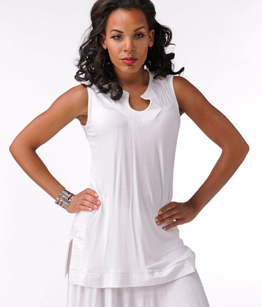 Elegantly Styled Keyhole top with topstitch detail  Price: $49.99
