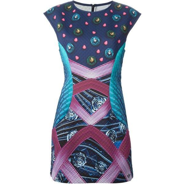 Mary Katrantzou X Adidas Originals Decathlon Dress ($250) ❤ liked on  Polyvore featuring dresses