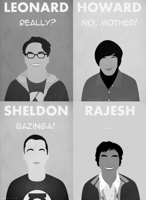 The Big Bang Theory - notice none of them have a nose, but yet these look just like them!!  Pretty cool!
