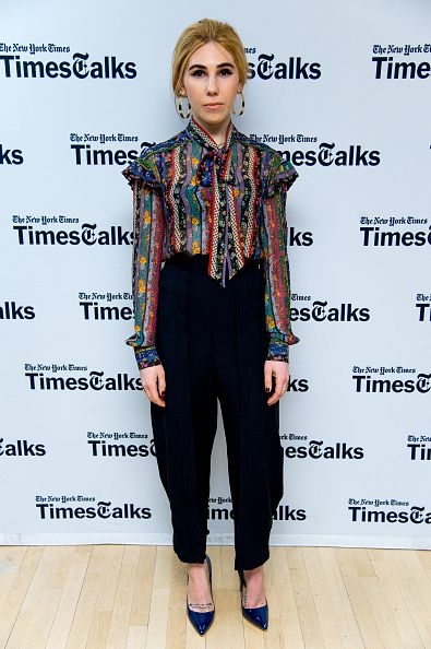 Actress Zosia Mamet in Philosophy di Lorenzo Serafini attends TimesTalks a final farewell to the cast of HBO's 'Girls' at NYU Skirball Center on February 1 2017 in New York City