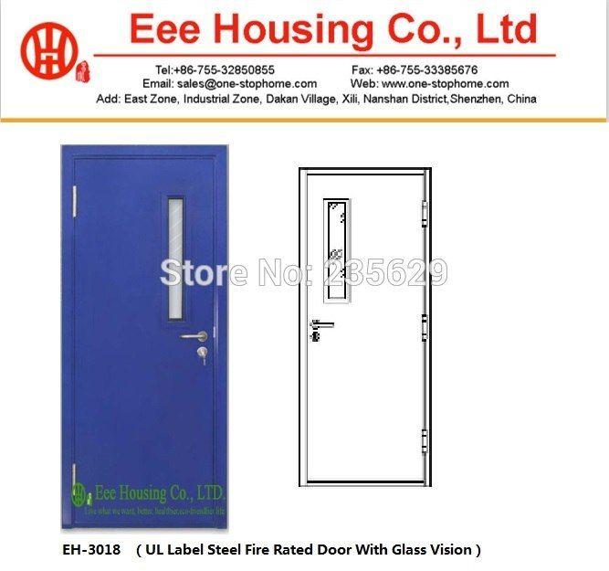 Ul Fire Doorssteel Fire Rated Door With Glass Vision Fire Resistance Door For Salecommercial Fire Doors Fire Rated Doors Fire Doors Glass Door