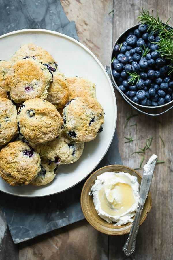 Blueberry Rosemary Buttermilk Biscuits - Foodness Gracious