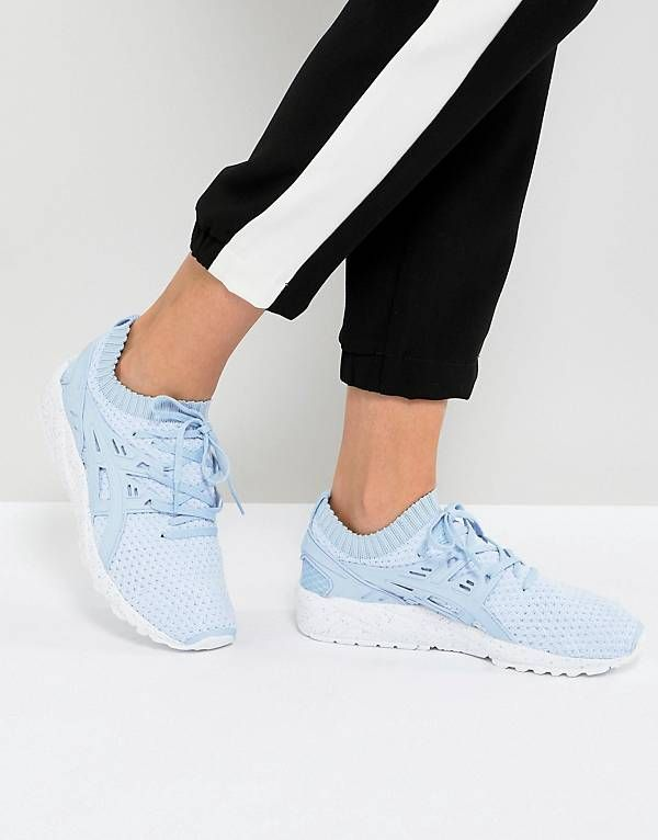 buy popular 39575 aa1ac Asics Gel-Kayano Trainer Knit Trainers In Sky Blue ...