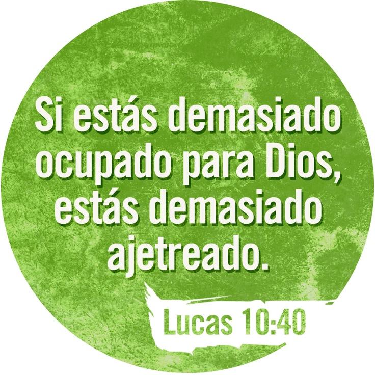 Hay una sola cosa por la que vale la pena preocuparse. / Leer Lucas 10:38-42