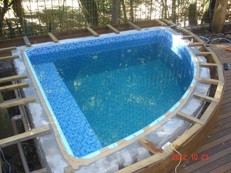 17 melhores ideias sobre piscina de vinil no pinterest for Piscinas de fibras