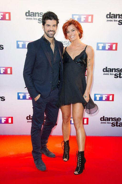 Le comédien Miguel Angel Muñoz et la danseuse Fauve Hautot lors de la conférence de presse de lancement de la saison 5 de Danse avec les Stars
