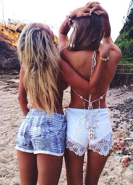 summer - beach - tanned skin - bestfriends - young, wild and free!