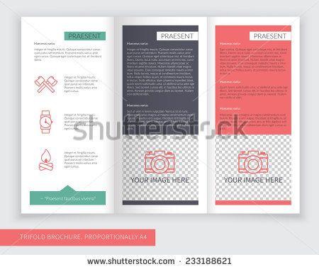 73 best Trifold Brochure images on Pinterest Brochures, Stock - blank brochure template