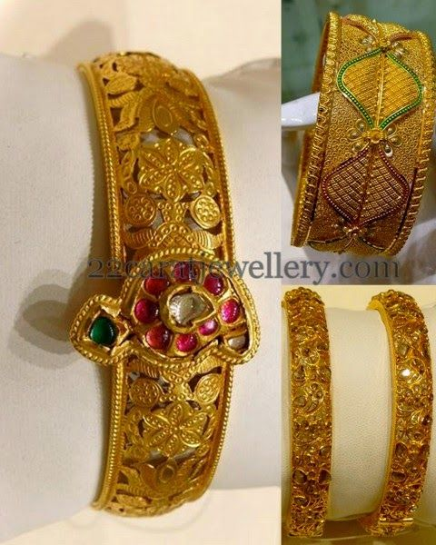 Jewellery Designs: Filigree Design Fancy Bangles