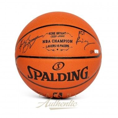 """KOBE BRYANT Autographed Laser Engraved 1st Championship Replica Basketball with """"1st Ring"""" Inscription PANINI LE 24 - Game Day Legends"""