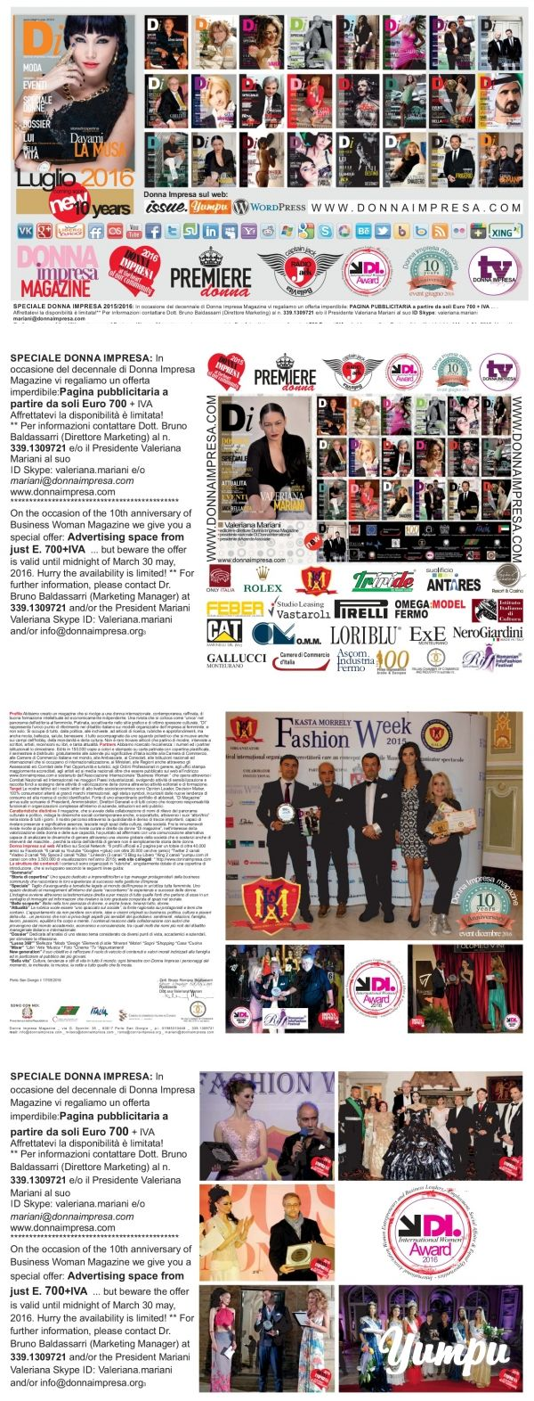 DONNA IMPRESA magazine 2016 - Magazine with 4 pages: *Il PREMIO INTERNAZIONALE…