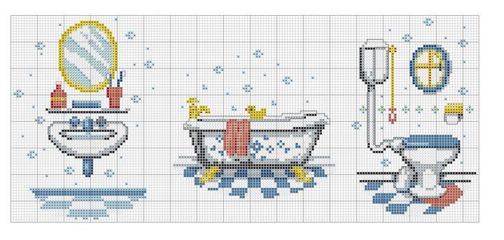 Toilettes, salle de bain et baignoire