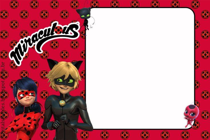 Prodigiosa Ladybug: Imprimibles para Cumpleaños e Invitaciones para Imprimir Gratis.