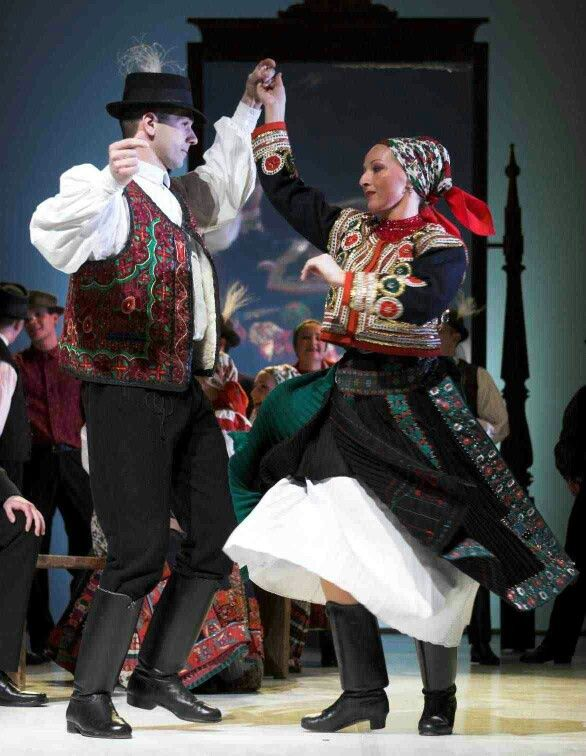 folk dance in traditional costumes Kalotaszeg Transylvania
