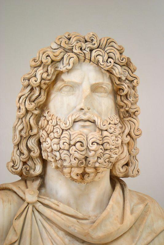 Roman Bust, Sabratha, Libya