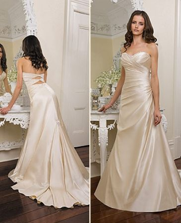 I want a champagne colored wedding dress.