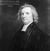 #14dic #1710 #Oxford fallece Henry Aldrich, teólogo, filósofo y compositor inglés