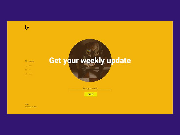 Subscribe page by Alexandr Bilchenko