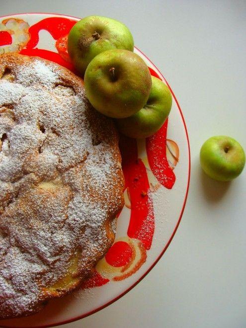 Torta di biscotti e mele
