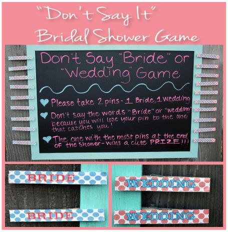 3ca9d0446428 Don t Say It Bridal Shower Game - Don t Say the words Bride or Wedding  during the shower or else you will lose your pins - Guest…