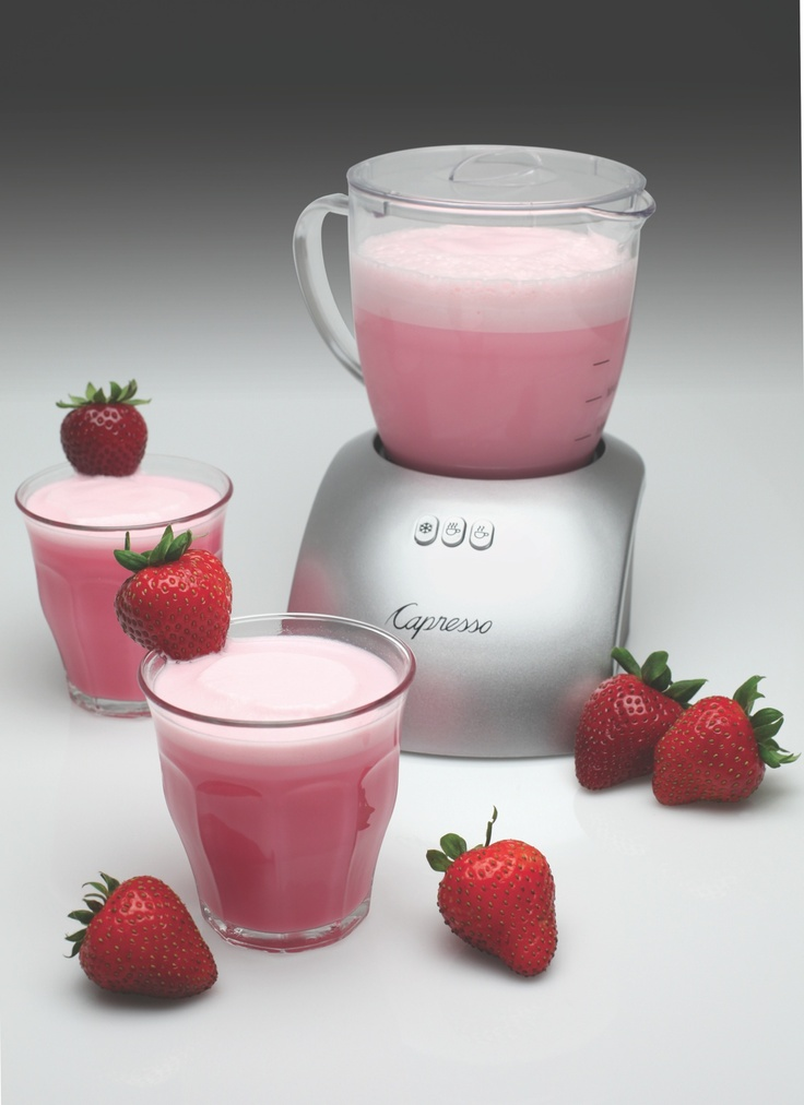 This Strawberry Crème recipe is perfect for Valentine's Day. A frothy beverage that resembles a strawberry milkshake without added fat. This delicious drink is not only the perfect color for the season, its classic flavors are sure to delight your taste buds.