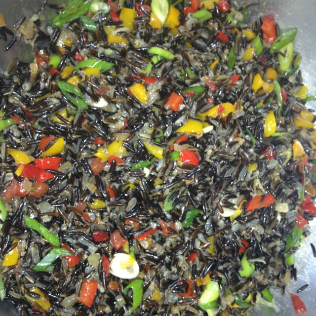 Canadian wild rice pilaf