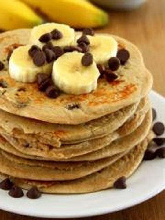 Pancakes banane et chocolat