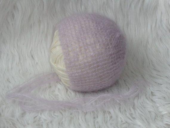 Newborn Bonnet.Newborn  Hat.Photography Prop by knitsdwarfs