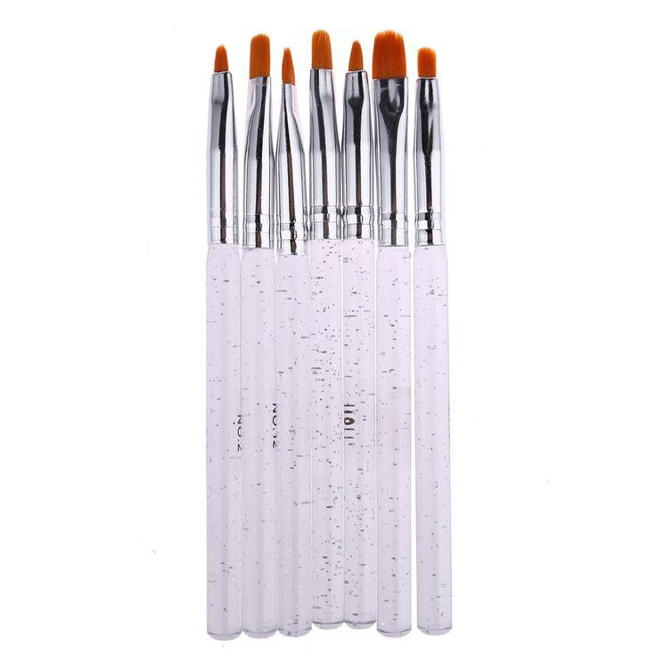 7pcs Professional Nail Art Design Painting Drawing Pen Brush Set Phototherapy Tool Manicure Tool Nail Art Beauty Tool Brush Pen