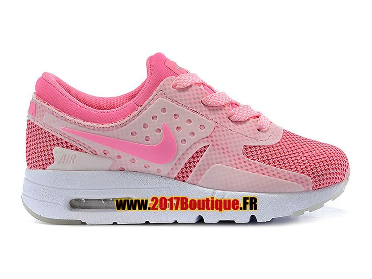 Nike Air Max Zero (PS) Chaussure Nike Sportswear Pas Cher Pour Petit Enfant Blanc / Rose