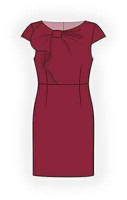 4361 ПЛАТЬЕ С ДЕКОРАТИВНЫМ ЛИФОМ   РЕКОМЕНДАЦИИ ПО ВЫБОРУ ТКАНИ: плательные ткани из натуральных или смесовых волокон с добавлением эластана.   А ТАКЖЕ ВАМ НЕОБХОДИМО:  потайная застёжка–молния, клеевая прокладка, косая бейка для отделки полочки (приблизительная длина указана на лекале полочки).