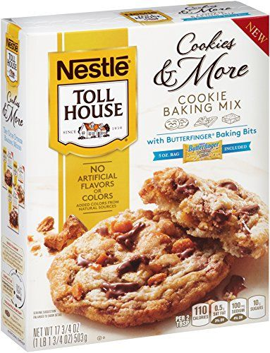 Toll House Cookies  More Cookie Baking Mix with Butterfinger Bits 1775 oz * More info could be found at the image url. (This is an affiliate link) #BakingMixes
