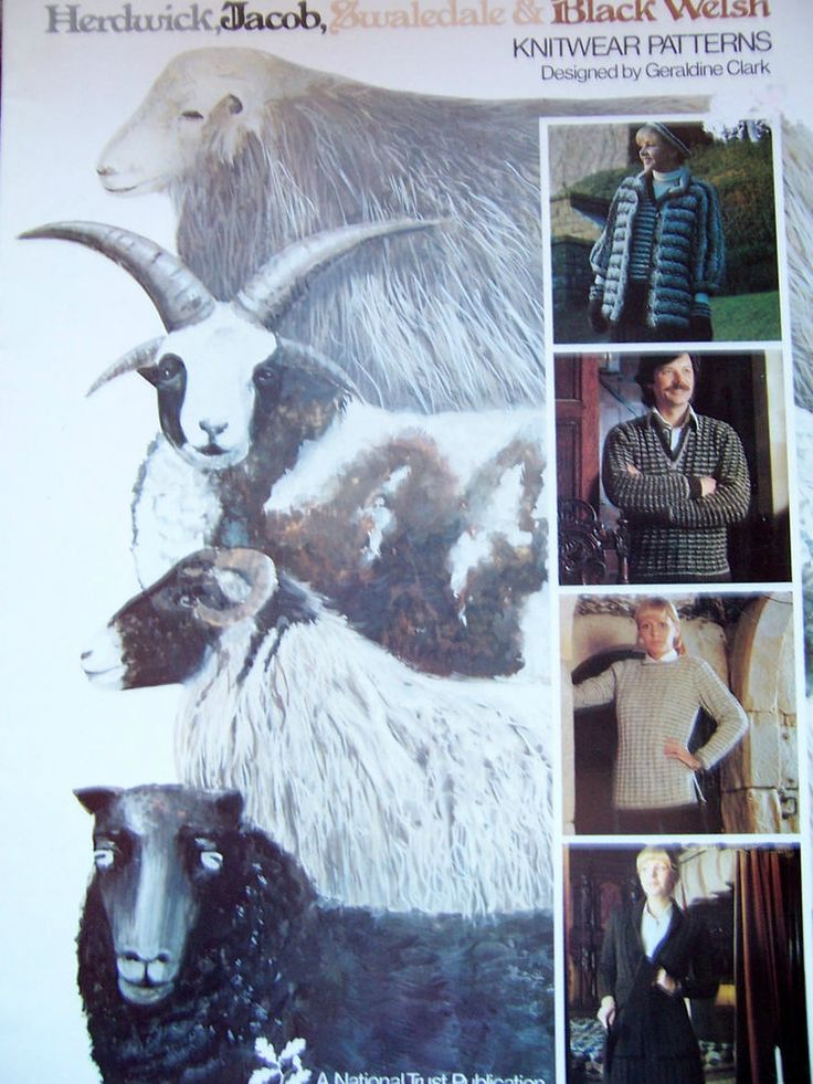 Knitting Patterns for HERDWICK,JACOB,SWALEDALE & BLACK WELSH Jacket,Mitts,Hat .. in Crafts, Knitting, Patterns | eBay