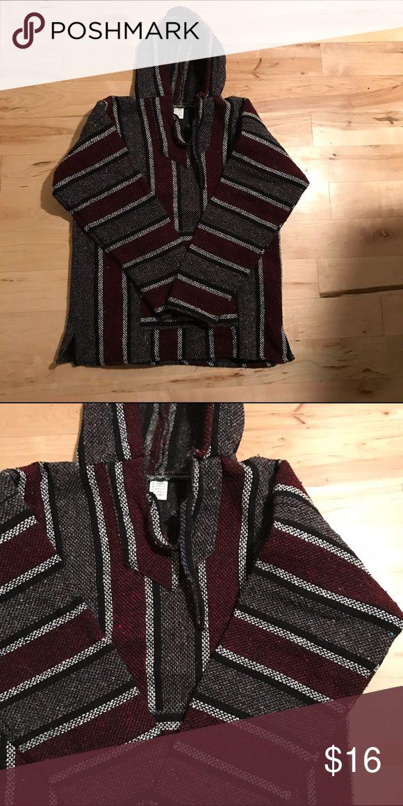 Mexican Baja Hoodie Mexican Baja Hoodie. Never worn Jackets & Coats Lightweight & Shirt Jackets