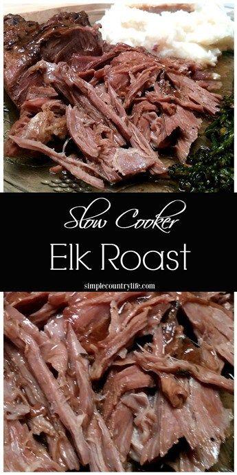 Slow Cooker Elk Roast