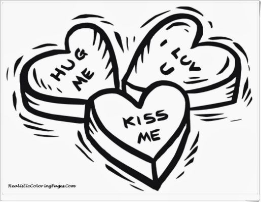 182 Best Printable Hearts Coloring Images On Pinterest