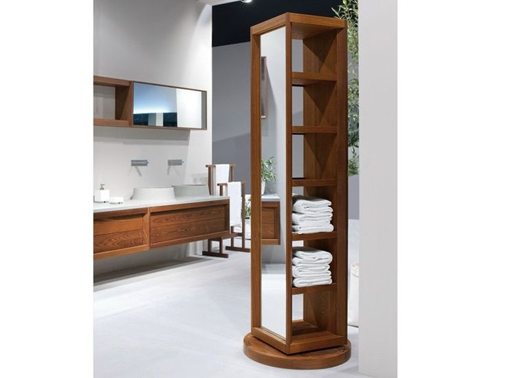 Photo Gallery For Website Tall ash bathroom cabinet with mirror TERMOTRATTATO Tall bathroom cabinet by GD Arredamenti