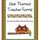 This is a set of fun teacher forms in an Owl theme.  Use these forms as a resource binder to help keep yourself organized.Forms are not editable....